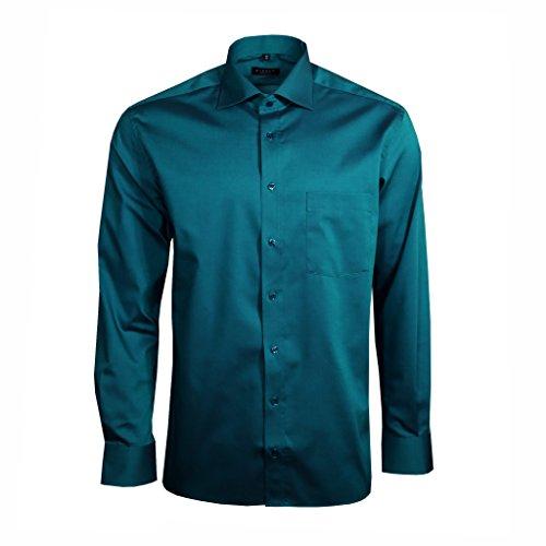 eterna -  Camicia classiche  - Uomo Blu Blau L/42
