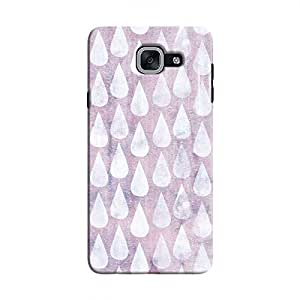 Cover It Up - Raindrops Print Purple Galaxy J7 Max Hard Case