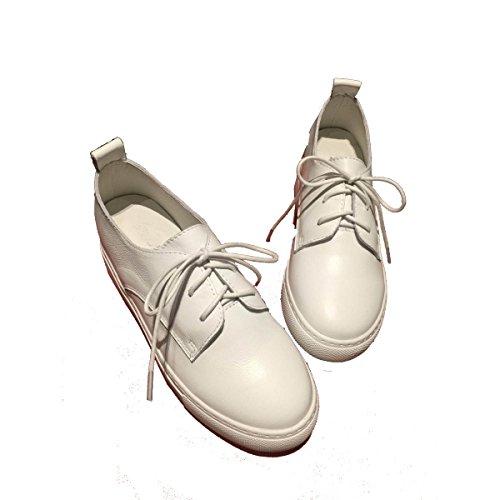 La Sra CHT Aumentó En Los Zapatos Casuales De Primavera Y Otoño WhiteFlat
