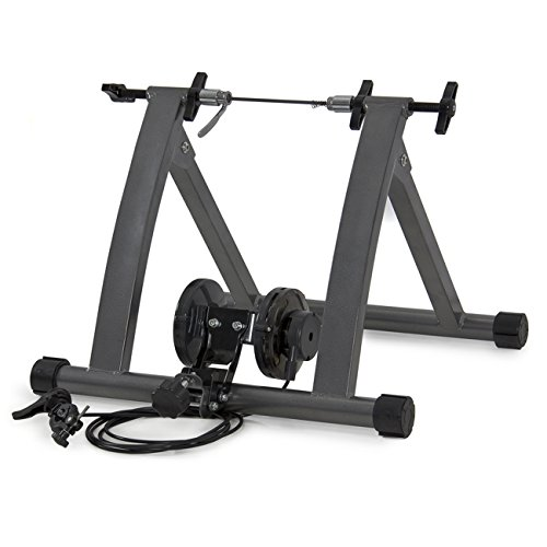 Best Choice Products Foldable Bike Trainer Stand w/ 5 Resistance Levels - Gray by Best Choice Products