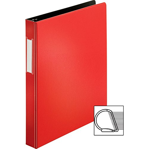 [해외]소스 경사 D 링 바인더 [2 장 세트] 색상 : 레드, 사이즈 : 1/Source Slanted D-Ring Binder [Set of 2] Color: Red, Size: 1