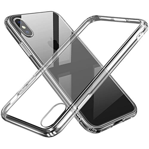 Sankmi Compatible iPhone Xs Max Case, iPhone Xs Max Case Clear Hybrid TPU Rubber Shock Absorption Bumper Case Durable Anti-Slip Back Hard Protective Safe Grip Cover for iPhone Xs Max(2018) -Clear