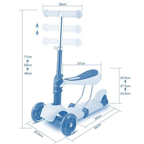 Park City Scooter W/Seat Patinete 3 Ruedas 2 en 1 Convertible, Unisex niños