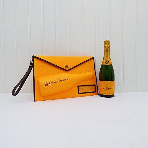 Veuve Clicquot Clutch Art-Handtasche mit 750ml Veuve Clicquot Yellow Label Champagne Brut - Geschenk-Ideen für - Weihnachten, Geburtstag, Hochzeit, Jahrestag, Verlobung, Valentinstag, Pensionierung, er, sie, danken sie, sie, Vatertag, Muttertag,18.,21.,30.,40.,50.,60.,70.,80.,90.,100.