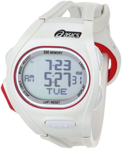(Asics Unisex CQAR0104 Race Regular White Oversized Display Running Watch)