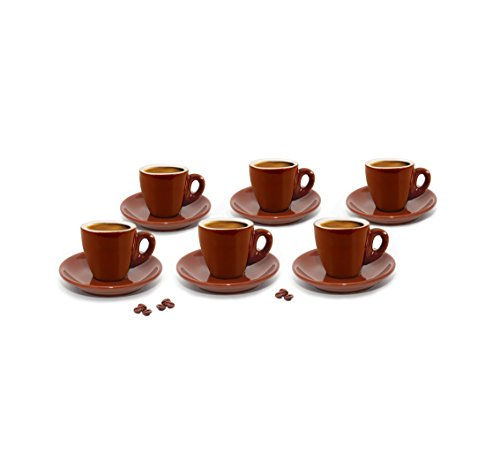 - Cuisinox CUP-66BR Espresso Cups, Set of 6, Brown