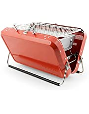 Kikkerland BQ01-RD Portable BBQ Suitcase, Red