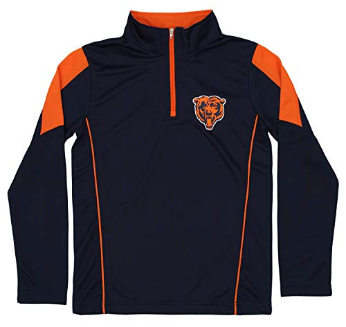 Outerstuff NFL Youth Boys (8-20) Performance 1/4 Zip Long Sleeve Pullover, Chicago Bears Small (8) ()