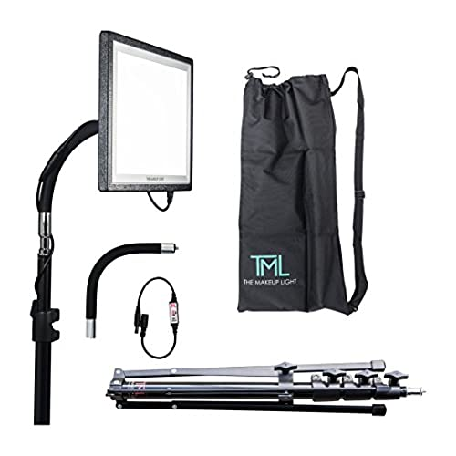 The Makeup Light Key Light Starter Package, Onyx/Black With Stand,  Adjustable Gooseneck U0026 Shoulder Bag