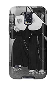 Fashion Tpu Case For Galaxy S5- Photography Black And White People Photography Defender Case Cover
