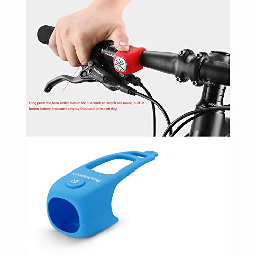 CreameBrulee ROCKBROS Mini port/átil el/éctricos Ciclismo Campanas 90dB bocina de Bicicleta de Bell del Manillar