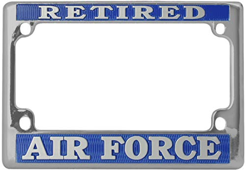 Armed Forces Depot USAF U.S. Air Force Retired License Plate Frame Motorcycles