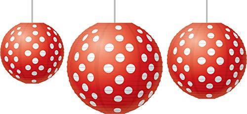 Red Polka Dots Paper Lanterns (TCR77227)