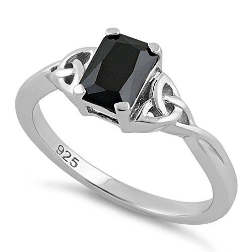Sterling Silver 7x5 Emerald - 2