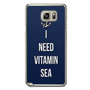 Samsung Note 5 Transparent Edge Phone Case Vitamin Sea Phone Case Navy Note 5 Cover with Transparent Frame