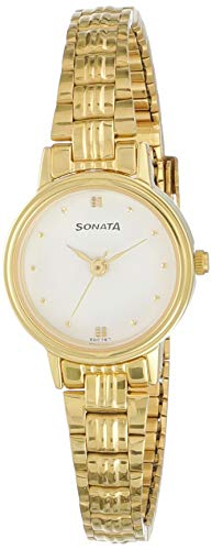 Sonata Analog White Dial Women #39;s Watch NM8096YM01/NN8096YM01