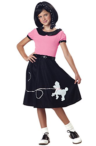 California Costumes 50's Hop with Poodle Skirt Child Costume, Medium