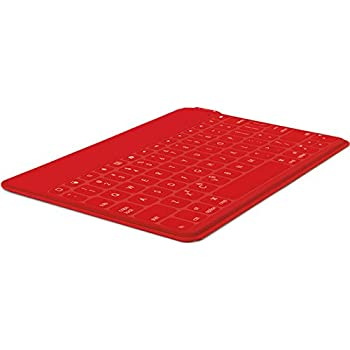 Logitech Keys-To-Go Ultra-Portable Bluetooth Keyboard for Tablets, Red (920-006722)