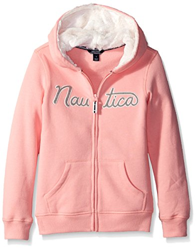 nautica-little-girls-logo-fleece-hoodie-with-eyelash-lined-hood-pink-6x