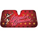 Wonder Woman Windshield Auto Sunshade Gold Red Stars