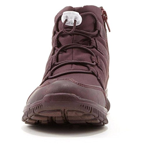 Tony Little174; Joues En Forme De Cheville Sneaker Bottines 548-632 Bourgogne