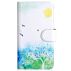 Generic Bird And Tree Spring Style Design Card Slot Magnetic PU Leather Flip Case Cover Compatible For LG Optimus F5 Lucid2 P875 P870
