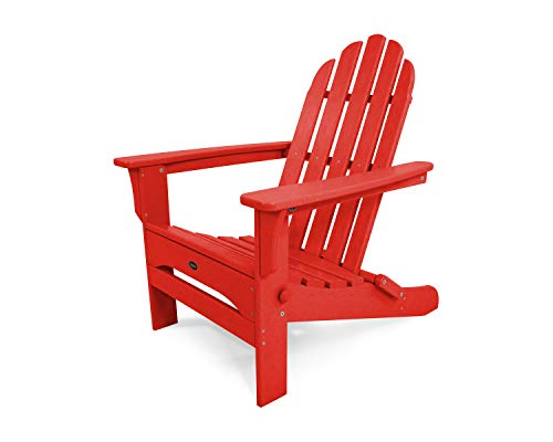Trex Outdoor Furniture TXA53SR Cape Cod Folding Adirondack Chair, Sunset Red