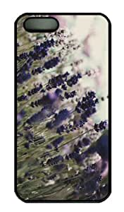 Case For Sumsung Galaxy S4 I9500 Cover CaCustomized Unique Design Lavender Flowers 3 New Fashion PC Black Hard