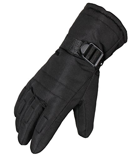 Waterfly® Fashion Men's Warm Waterproof Winter Outdoor Glove Cycling Gloves Biking Gloves Snowmobile Snowboard Ski Gloves Athletic Gloves Mittens (Black)