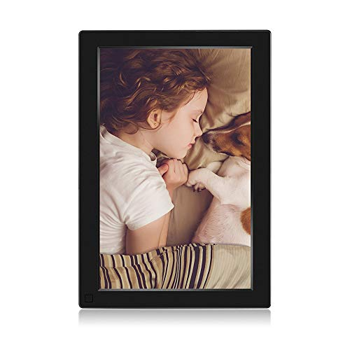 BSIMB WiFi Cloud Digital Picture Frame 16GB Digital Photo Frame 10.1 Inch 1280x800 IPS Touch Screen Auto Rotate Motion Sensor Add Photos/Videos from iPhone & Android App/Twitter/Facebook/Email W10 (Touch Screen Digital Photo Frame)
