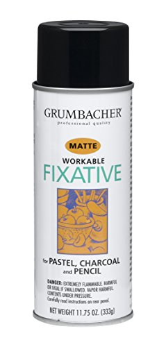 GRUMBACHER 546 11-3/4-Ounce Workable Fixative Spray,...