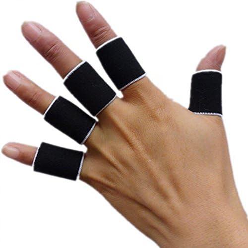 LovelyLifeAST Sport Fingerschiene Guard Bands Bandage Unterstützung Wrap Basketball Volleyball Fußball Fingerstall Sleeve Kappen Protector schwarz