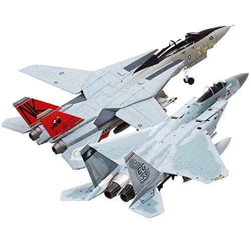 1:100 Scale Military Model Toys F-14 Tomcat F-15 Eagle Fighter Aircraft Plane Model for Collection Gift Home Decoration
