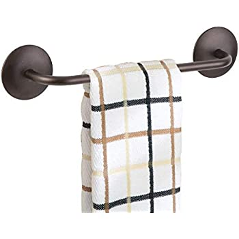 iDesign InterDesign AFFIXX, Peel-and-Stick Adhesive Towel Bar Holder for Kitchen or Bathroom - 8.5