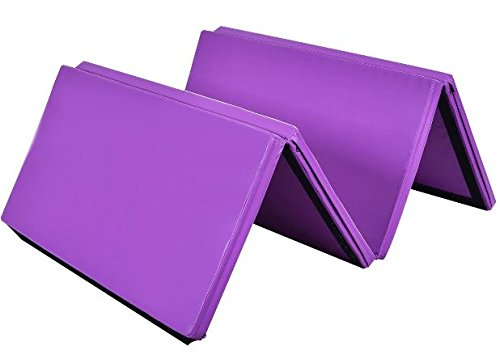 """K&A Company Mat Thick Folding Panel Gymnastics Gym Fitness Exercise New Tumbling Home 4' x 8' x 2"""""""