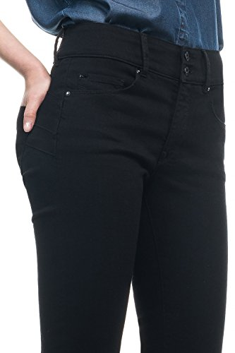 Salsa - Jeans Push In Secret True Black avec jambe slim - Femme - Noir
