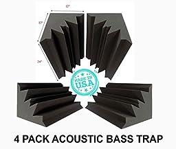 Set of 4 - Acoustic Foam Bass Trap Studio Soundproofing Corner Wall 12\