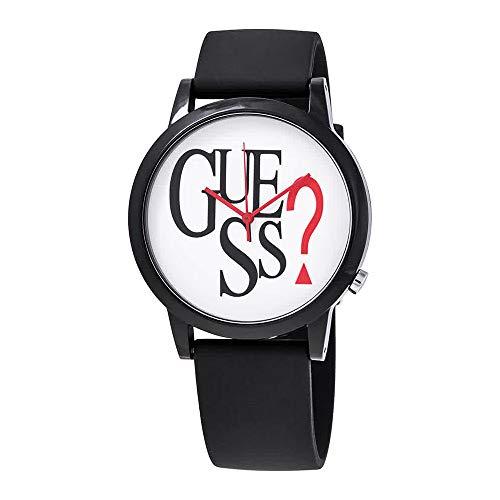 Guess Originals Black Logo Quartz White Dial Unisex Watch V1021M1
