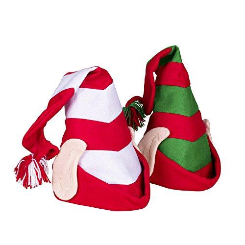 Deluxe Santas Helper - Nicky Bigs Novelties Deluxe Felt Elf Hat with Ears Santas Helper Christmas Time Costume Accessory