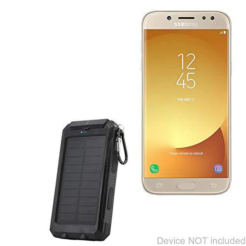 BoxWave Samsung Galaxy J5 Pro Battery, [Solar Rejuva PowerPack (6000mAh)] Solar Powered Backup Power Bank for Samsung Galaxy J5 Pro - Jet Black