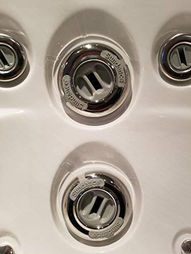 Sundance Spas Fluidix IntelliJet Face with 316 Stainless Steel Escutcheon Part number 6541-102