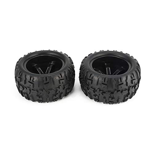 PGIGE 2Pcs 150mm Wheel Rim and Tires for 1/8 Monster Truck Traxxas HSP HPI E-MAXX Savage Flux Racing RC Car Accessories