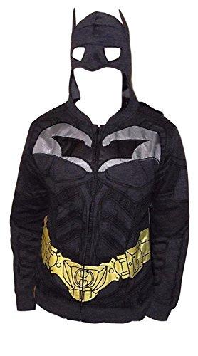 DC Comics BATMAN Arkham Assylum Masked Hoodie W/ Cape - INTERNET EXCLUSIVE LIMITED EDITION (Medium) ()