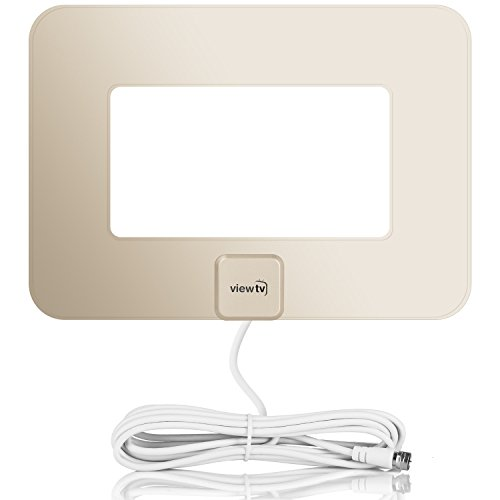 Price comparison product image ViewTV VT-9047GE 80 Mile Range Flat Amplified HD Digital TV Antenna - Gold
