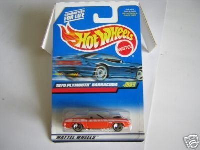 Mattel Hot Wheels 1999 1:64 Scale Orange 1970 Plymouth Barracuda Die Cast Car Collector #1063 (Car Barracuda Plymouth)