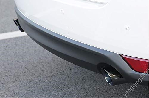 FidgetFidget Pipe Stainless Rear Exhaust Muffler Tip End 2pcs for Mazda CX-5 CX5 2017 2018