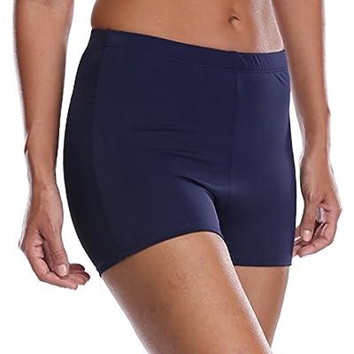 beautyin Women's Swim Shorts Boyleg Draw String Tankini Swimsuit Bottom at Women's Clothing store