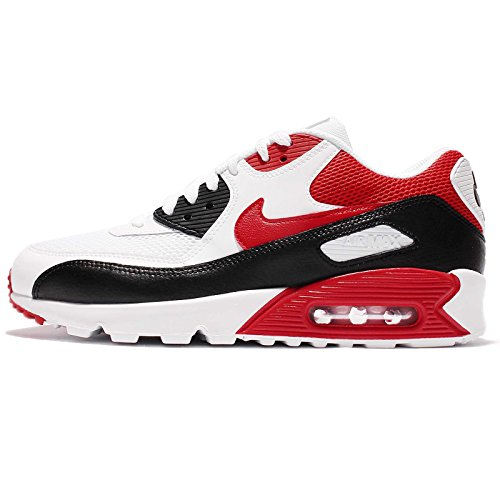 Nike Air Max 90 Essential Men Lifestyle Casual Sneakers New White Red Black