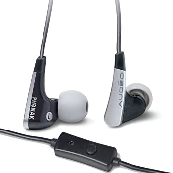 Audéo Perfect Fit Earphones with Microphone 122 (Black)
