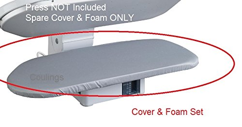 Steam Iron Press Metallic Cover and Foam. For Singer, Domotec, Hinari, Swan & Elna Coulings
